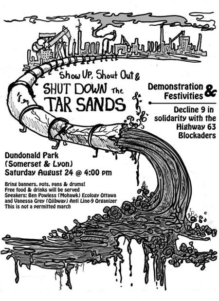 Ottawa Residents Protest Tar Sands Pipelines