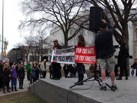 Justice for Levi Campaign at Human Rights Monument in Ottawa, April 19