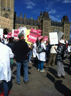 Evidence for Democracy rally; Septmeber 16, 2013; Parliament Hill, Ottawa, Canada